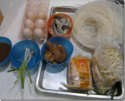Pad Thai ingredients