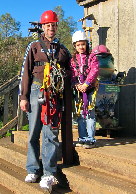 Ready for zip line